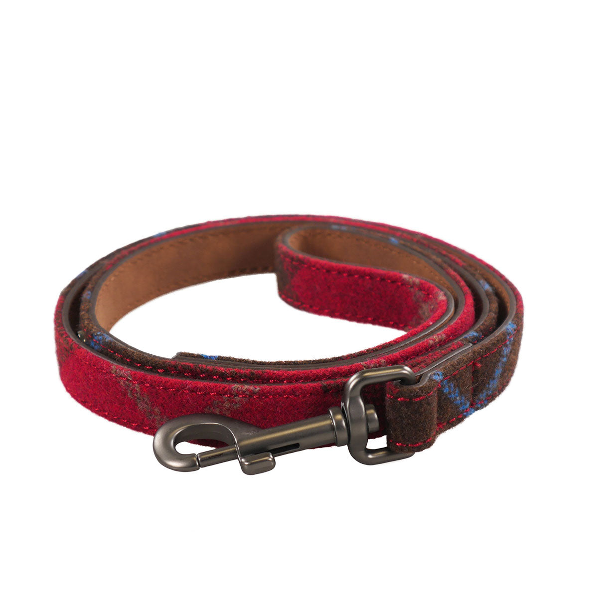 Joules Heritage Tweed Leather Dog Lead