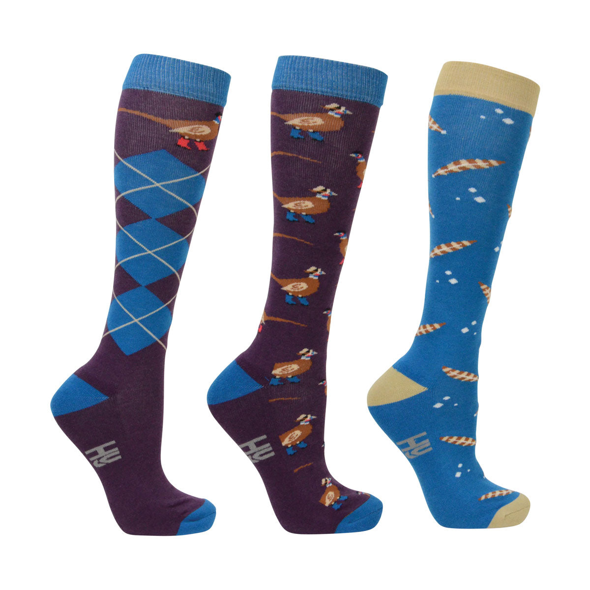 Hy Patrick the Phesant Socks (pack of 3)