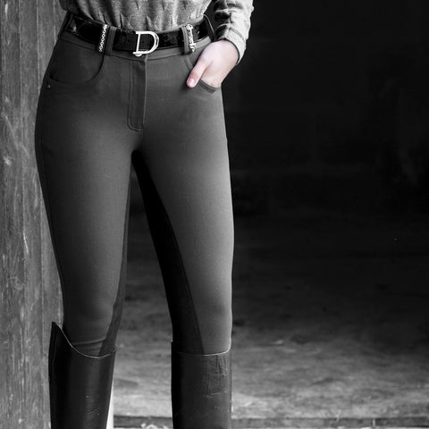 Snaffle Link Breeches - Grey