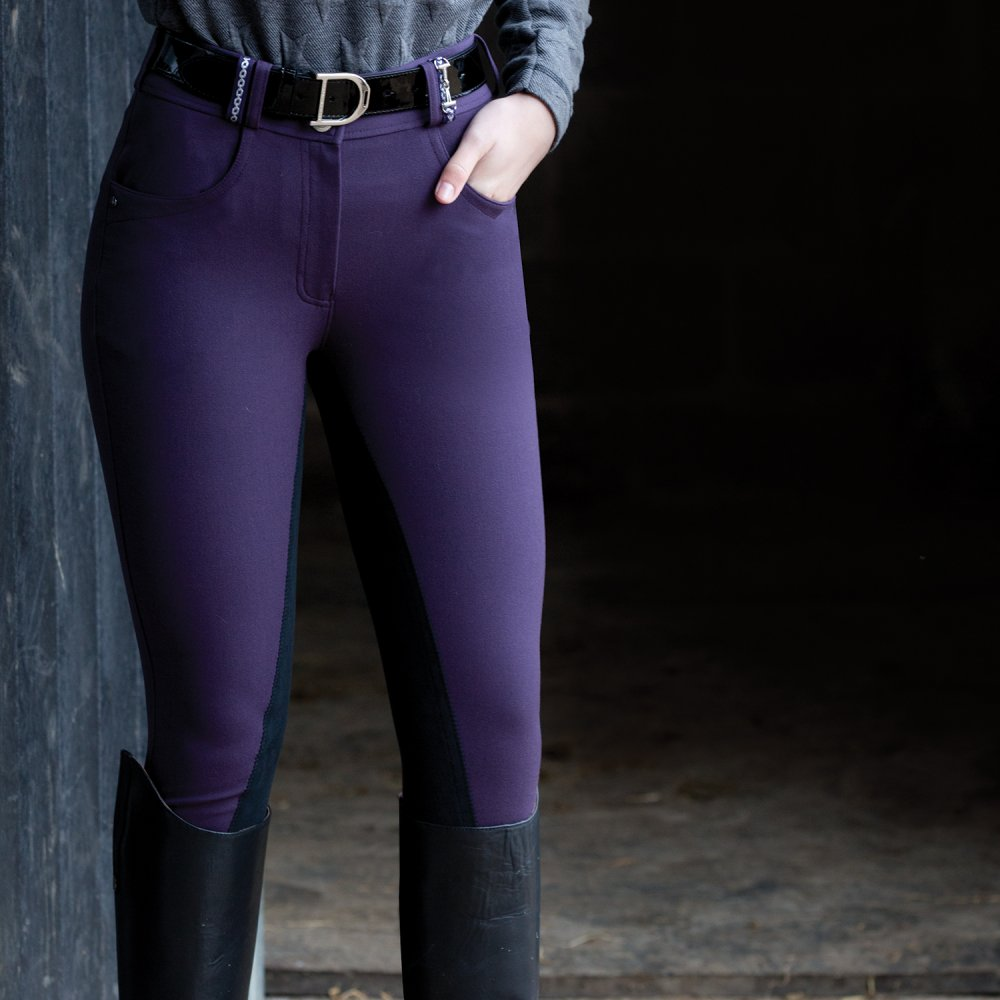Snaffle Link Breeches - Blackberry
