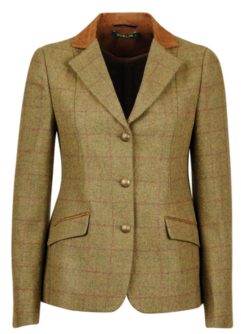 Dublin Albany Tweed Suede Collar Tailored Jacket Childs