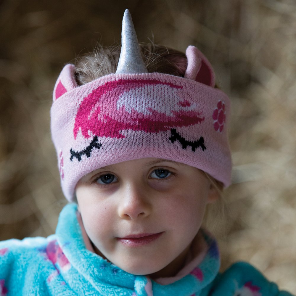 Childs Unicorn Knit Headband