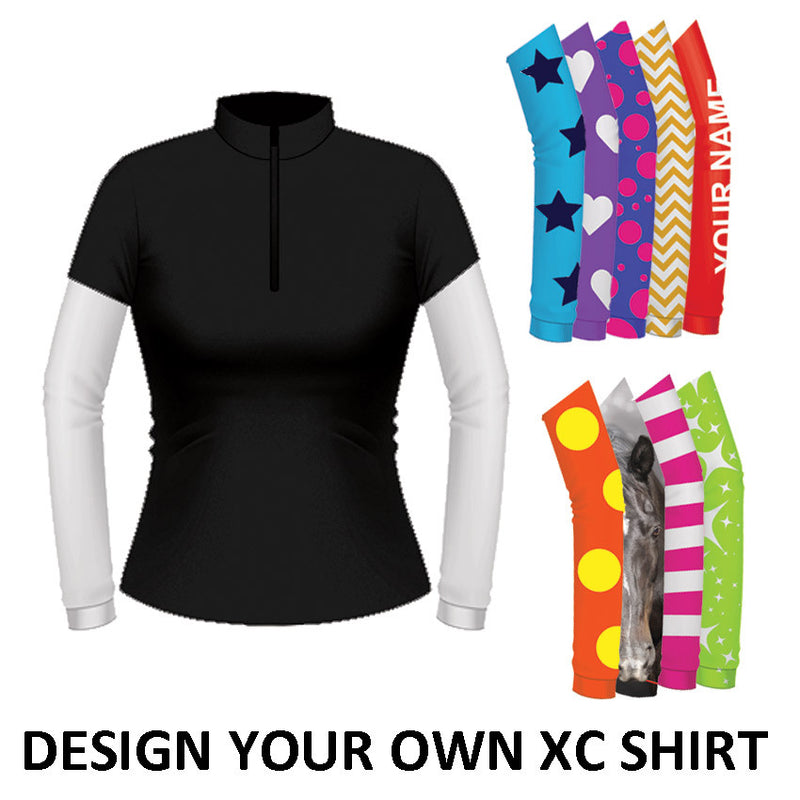 Equetech Womens Custom Cross Country Shirt - Black