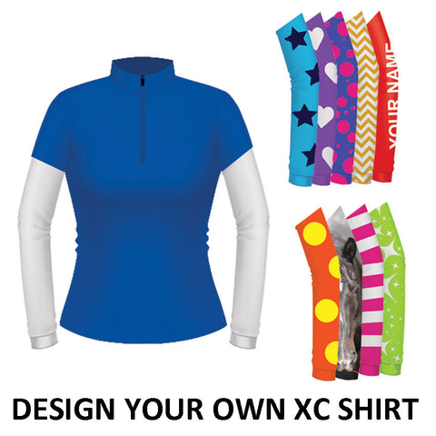 Equetech Womens Custom Cross Country Shirt - Royal