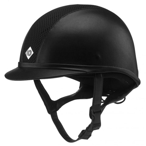 Charles Owen Ayr8 Classic Helmet Leather Look (Oval Profile)