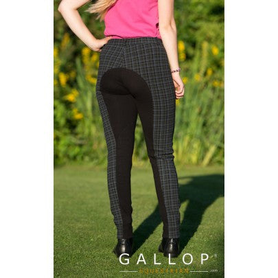 Gallop Oxford Check Jodhpurs