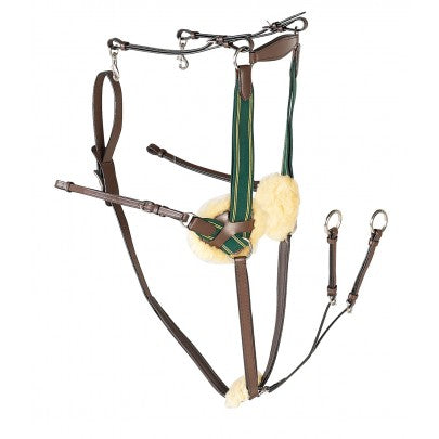 Gallop Leather 5 Point Breastplate