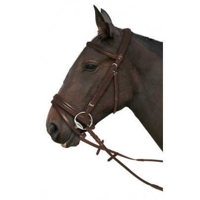 Gallop Leather Comfort Bridle And Rubber Reins