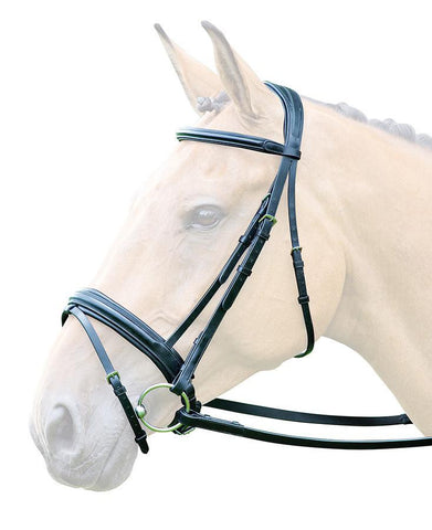 Bridleway Lavello Leather Flash Bridle with Crank