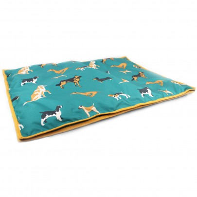 Gallop Dogs Print Dog Bed