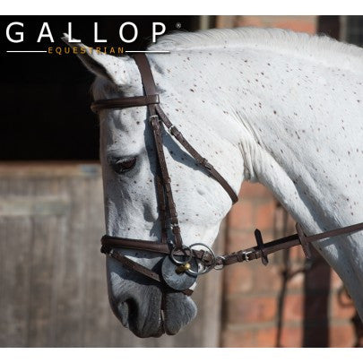 Gallop Leather Padded Bridle And Rubber Reins