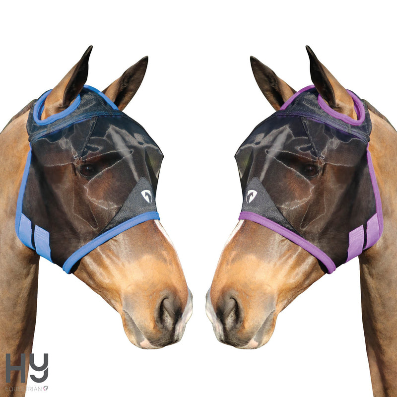 Hy Equestrian Mesh Half Mask with Ear Holes
