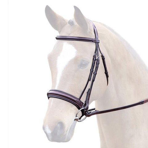 Bridleway Lavello Padded Leather Cavesson Bridle