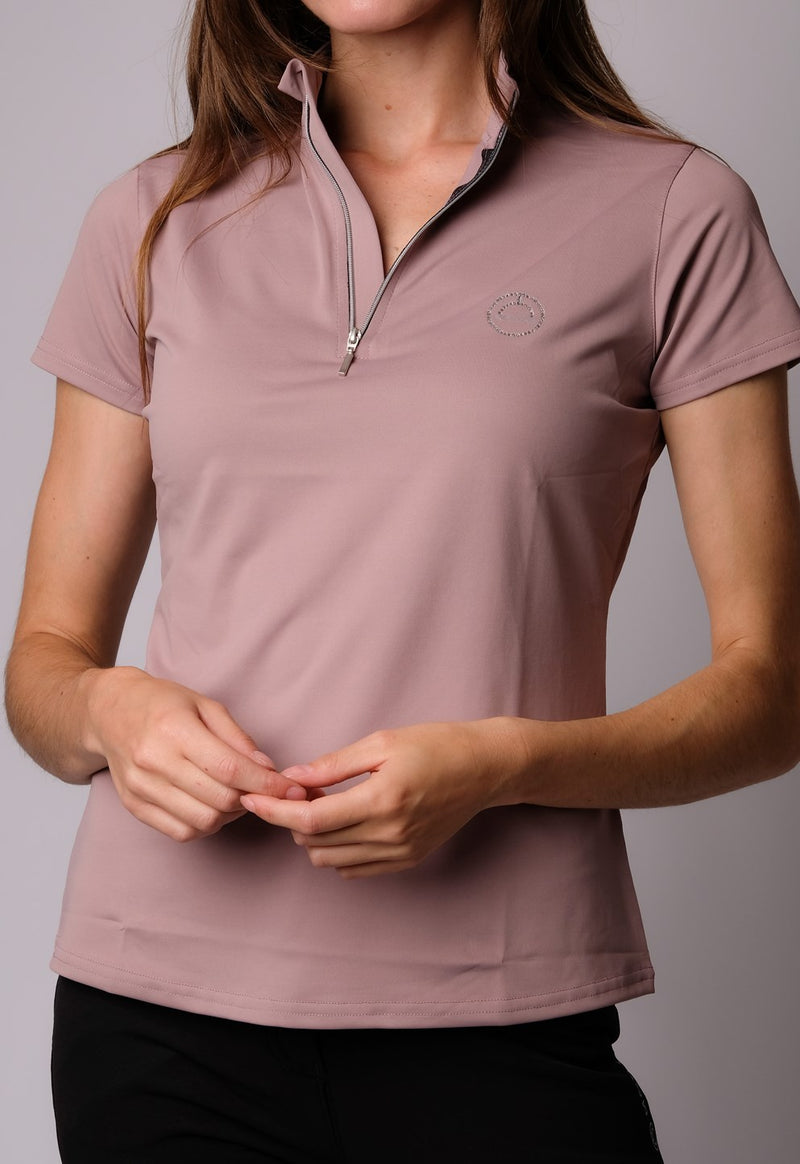 MONTAR Everly Mon-Tech Polo with short sleeves - Soft Pink