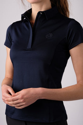 Thilda Mon-Tech Basic Polo with short sleeves - Navy