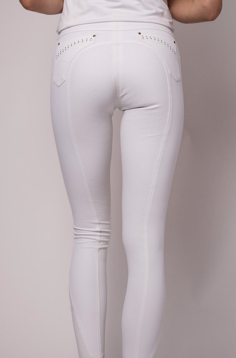 Lina white crystal pocket K/GLeggings