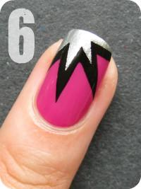 Scotch Tape Explosion Manicure - Tutorial