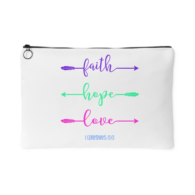 faith hope love Arrow Accessory Pouch