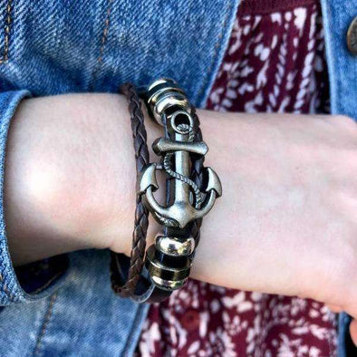 Anchor Bracelet (with metal clasp)