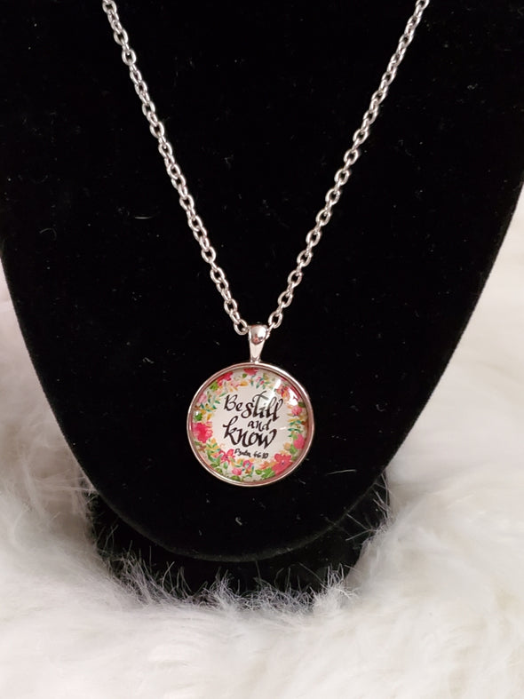 Be Still and Know Charm Necklace