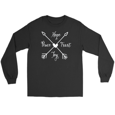 Hope Peace Trust Joy Arrow Long Sleeve Tee