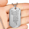 Psalm 27:1 Dog Tag Necklace
