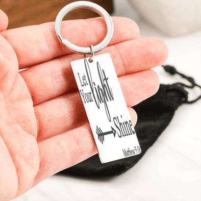 Let Your Light Shine Key Chain