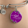 With God All Things Are Possible Bangle bracelet- Matthew 19:26