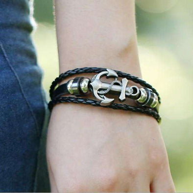 Anchor Bracelet - Men's (with metal clasp)