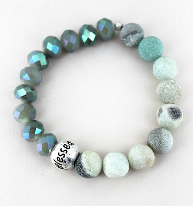 Blessed Amazonite Beaded Bracelet