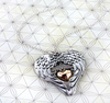 Angel Blessing Wing and Heart Layered Pendant