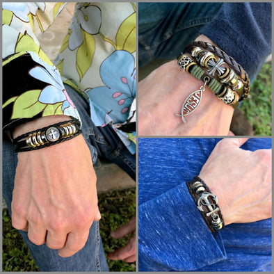 Men's Bracelet Bundle- Metal Clasp