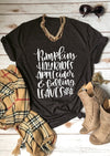 Pumpkins Hayrides Apple Cider Tee