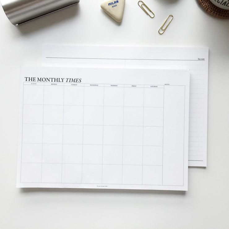Planner Mensual The Monthly Times Pequeño con Estuche, Planificadores, Seeso Graphics - Likely.es