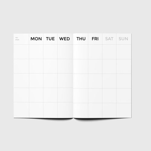 Planificador Timeless Monthly Planner | MINI