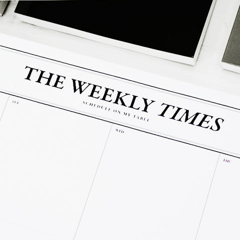 Libreta Planner Semanal The Weekly Times