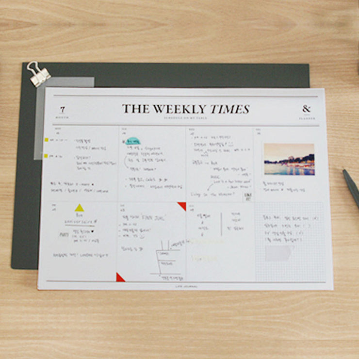 Libreta Planner Semanal The Weekly Times, Planificadores, Seeso Graphics - Likely.es