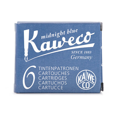 Cartuchos de tinta Kaweco 6 uds | Midnight Blue