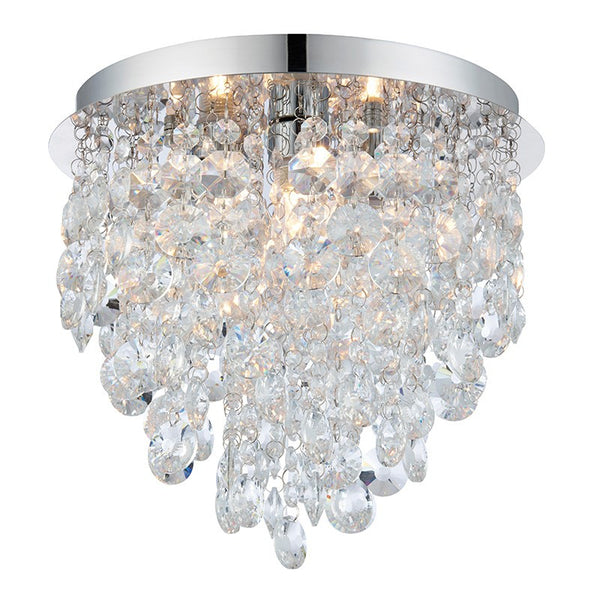 Bathroom lights fantasy lights home garden superstore flush bathroom light chrome plate with crystal dressing mozeypictures Choice Image