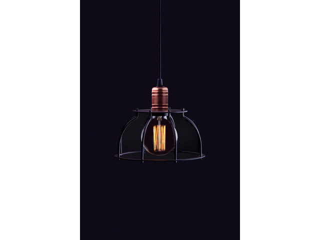 matte light black rope electric fixture vintage with hanging en pendant p globe in home