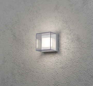 Aluminium box square led wall light with clear glass finish aluminium box square led wall light with clear glass finish aloadofball Image collections