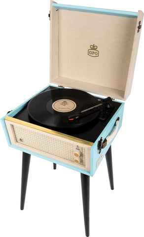 BERMUDA - RETRO STYLE TURNTABLE WITH REMOVABLE LEGS
