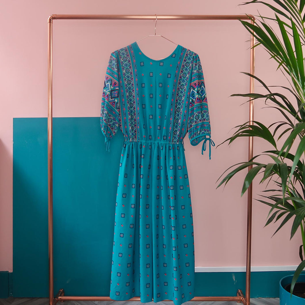 Boho Turquoise dress