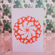 Abstract Card Orange