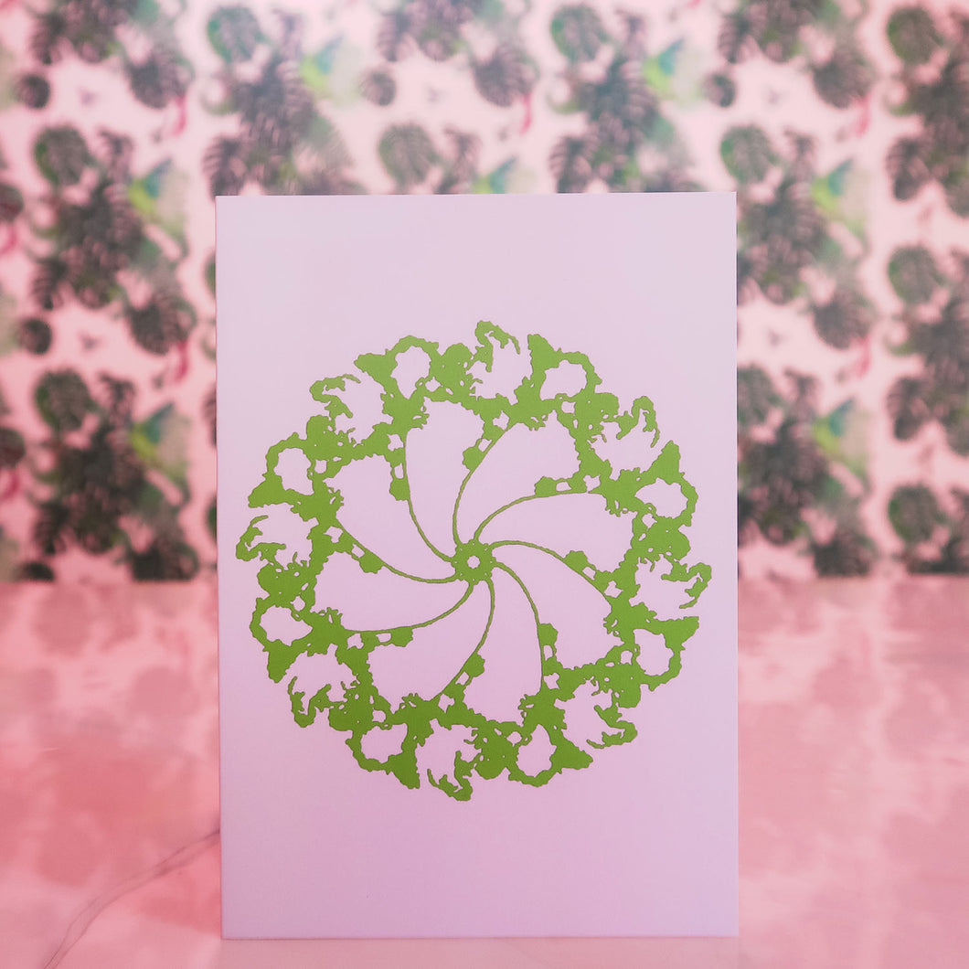 Abstract Card Green
