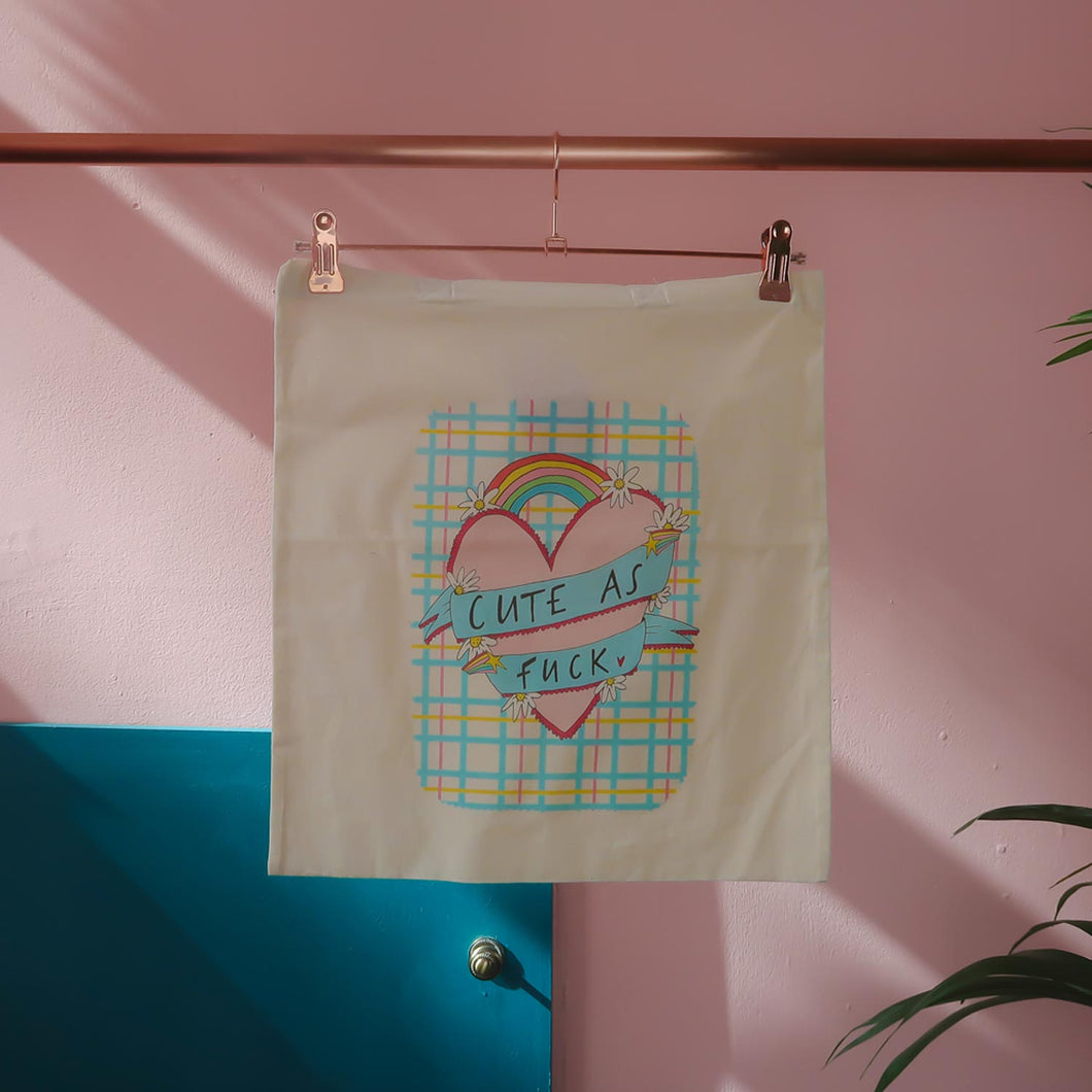 Cute as Fuck Tote Bag