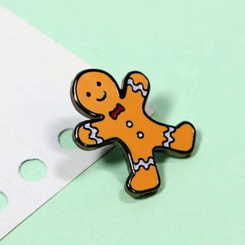 Gingerbread man pin