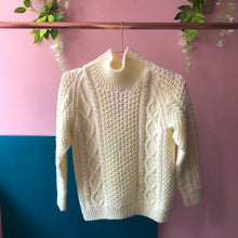 Cream knitted arran jumper