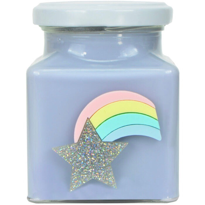 Rainbow Lilac Candy Candle