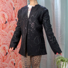 Black embroidered and beaded Cardigan / Jacket